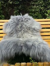 Real icelandic sheepskin rug colour grey/dyed/120-75cm /1k