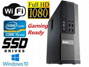 GAMING PC DESKTOP COMPUTER Dell i5 16GB GTX850 4GB 512GB SSD WIFI WIN10 HDMI