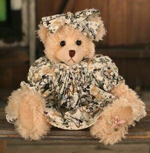 """SETTLER BEARS HAWTHORN COLLECTION SOPHIA 14"""" PLUSH JOINTED TEDDY BEAR - BNWT"""