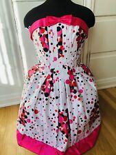 New listing Minty Vtg Jessica McClintock for Gunne Sax Strapless Polka Dot Dress Size 9