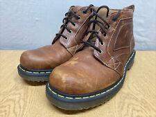 Dr Martens Mens Brown Leather Lase Up Boots Uk 10
