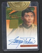 STAR TREK TOS 40th ANNIVERSARY SERIES 2 Autograph Costume Card GEORGE TAKEI