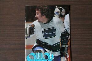 Vancouver Canucks Hockey Program -- Mar 21, 1976 vs St. Louis