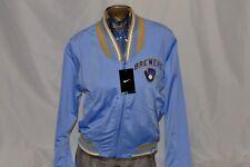New Nike Premium Milwaukee Brewers MLB Baseball Light Blue Women's Jacket