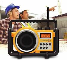 Sangean LB-100 LUNCHBOX Compact FM/AM Ultra Rugged Worksite Radio Receiver New