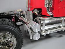 New RC 1/14 Aluminum Air Oil Tanks Tamiya Semi Tractor truck King Kngiht Hauler