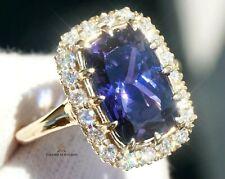 Tanzanite Ring Gold Diamond Natural NO HEAT 6.55CTW GIA Certified RETAIL $12200