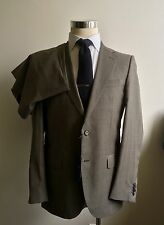 NEW Caruso Suit for Faconnable 38R/48R Drop 7 Tan Wool Herringbone Corozo Italy