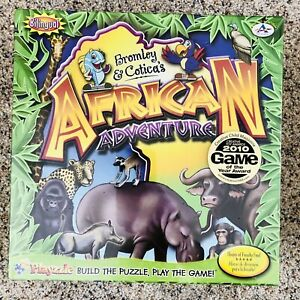 African Adventure Bilingual Animals Board Game Puzzle Critical Thinking Memory (
