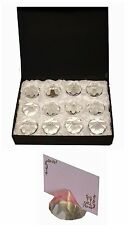 12 Diamond Weight Wedding Table Name Place Card Holders, Party Favours & Events
