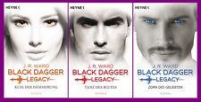 J. R. Ward - Black Dagger Legacy Band 1+2+3 im Set - Kuss/Tanz/Zorn - Portofrei