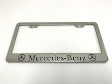 1 STAINLESS STEEL CHROME Polished Metal License Plate Frame - MERCEDES-BENZ