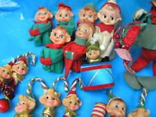 15  Vintage XMAS  Japan Elf  Elves PIXIE   Knee Huggers  CHRISTMAS  Ornaments