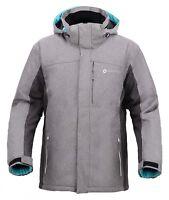 Mens Hooded Waterproof Snow Ski Jacket lightweight Softshell Casual Sportswear