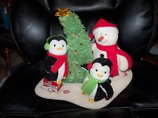 Hallmark Dancing Singing Snowman Penguin Jingle Pals Animated Plush Retired