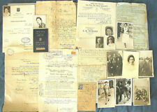 Judaica Large Archive of a Jewish Family Weiss from Tomaszow Poland 1914-1950s