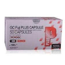 GC America Fuji Plus Capsules Glass Ionomer Luting Cement Caps 50/pk YELLOW