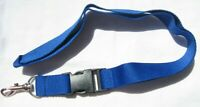 Blaues unbedrucktes blue bleu Schlüsselband Lanyard NEU (A52)