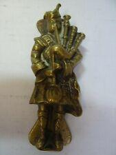 Scottish Highland Piper Vintage Brass Door Knocker
