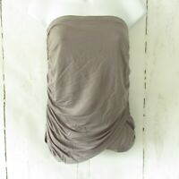 New YFB Young Fabulous & Broke Top Strapless S Small Gray Draped