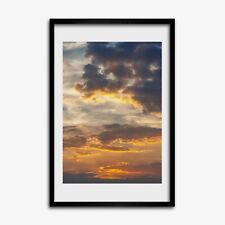 Tulup Foto auf MDF Wanddekoration Wohnzimmer 40x60cm Sonnenuntergang Himmel