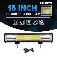 TRI-ROW 15Inch 864W CREE LED Light Bar Offroad For JEEP JK TJ YJ LJ CJ Rubicon