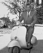 "Gary Cooper Vespa Scooters Mods 10"" x 8"" Photograph"