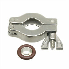 NW/KF-10 Vacuum Fitting Hinge Nut Clamp + Centering Ring + Viton O-Ring SS304