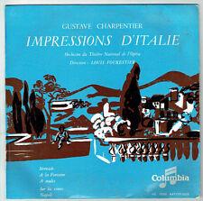 33T 25cm IMPRESSIONS D'ITALIE Disque NAPOLI G. CHARPENTIER L. FOURESTIER RARE
