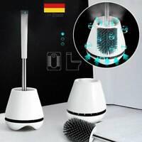 Antibakterielle Toilettenbürste+Basis Klobürste Halter WC Bürste Silikonbürste