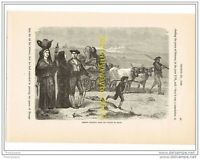 FRENCH PEASANTS FROM THE VALLEY OF OSSUN, FRANCE, c1789, Book Illust c1870