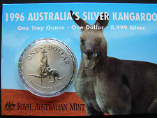 1996 SILVER Reverse Frosted $1 Kangaroo coin. Only 49,398 made!