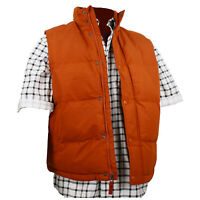 Adult Puffer Vest Marty McFly Back to the Future Orange Rust Costume Jacket