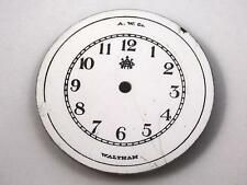 White Waltham Am Watch Co Watch Dial for Pocket Watches Vintage 34.37mm NOS