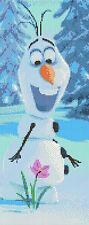 """L'OLAF - congelées le film Compté Cross Stitch Kit 6 """"x 14"""" Disney, FREE P&P"""