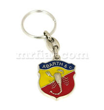 Fiat 500 600 Abarth Metal Key Chain New
