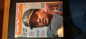 Feb 1990 Baseball Cards magazine Rickey Henderson with 6 intact uncut mint cards