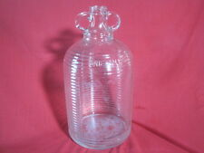 Vintage glass RIBBED One Gallon Jug Wine Bottle Markings shown in pics