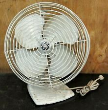 Vintage Antique 1950s GE Oscillating Fan Mid Century Mod General Electric