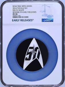 2016 Star Trek 50th Anniversary 1oz Silver Reverse Proof DELTA Coin NGC PF70