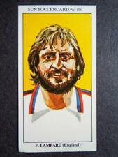 LE SOLEIL soccercards 1978-79 - Lahanque - ANGLETERRE #104