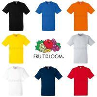Fruit of the Loom Mens Womens Heavy 100% Cotton Blank Plain Tee T-Shirt