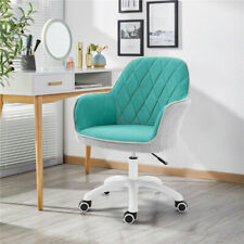 Ergonomic Mid-Back Swivel Chairs Upholstered Adjustable w/ Armrest Home Office