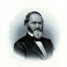 THOMAS WILSON PHILADELPHIA Scientist 1880s Portrait Steel Engraving Art Print