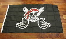 15 PIRATE FLAGS JOLLY ROGER RED BANDANA PIRATES BANNER 3' X 5' SKULL CROSSBONES
