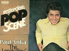 """PAUL ANKA - THE SOLITAIRE BOY HIER POP SCÈNE 12"""" LP (L9928)"""