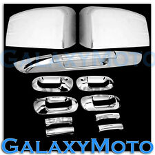 Ford Expedition Chrome Mirror+4 Door Handle w/PSG keyhole+Lower Tailgate Cover