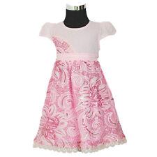 Niña con Lentejuelas Flor Vestido de Fiesta Rosa Blanco 9 12 18 24 Meses 3 Años
