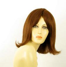 perruque femme 100% cheveux naturel châtain clair cuivré ref MATHILDE  30
