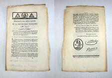 Révolution Française 1793 Bulletin des Lois N°25 scellé